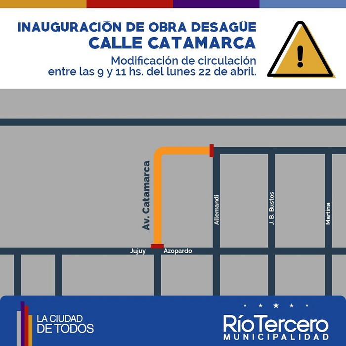Modificación circulación Catamarca