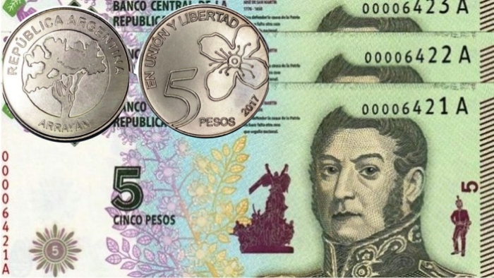 Billete Moneda 5 pesos